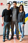 "Antonio Hortelano, the director Manuel Rios San Martin and Eva Santolaria attends to the photocall of the presentation of conferences ""Series juveniles que marcaron una generacion"" by Dirige Association in Madrid, Spain. March 27, 2017. (ALTERPHOTOS/BorjaB.Hojas)"