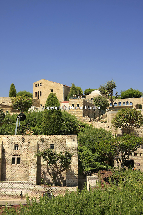 Israel, Shephelah. A model of Safed in Mini Israel park