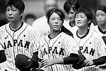 #77 Watanabe Nana of Japan celebrates with her teammates after winning India during the BFA Women's Baseball Asian Cup match between Japan and India at Sai Tso Wan Recreation Ground on September 6, 2017 in Hong Kong. Photo by Marcio Rodrigo Machado / Power Sport Images<br /> <br /> <br /> (EDITOR NOTE...BLACK AND WHITE CHANGED BY LIGHTROOM)