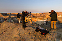 Workshop clients at sunrise, Coal Mine Canyon, near Tuba City, Arizona