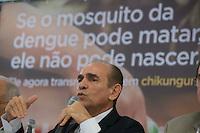 BRASILIA, DF, 20.11.2015 - DENGUE-ENTREVISTA- O ministro da Saúde, Marcelo Castro, durante divulgação de novos números da dengue, chikungunya e microcefalia, no Hotel San Marco, nesta terça-feira, 24.(Foto:Ed Ferreira / Brazil Photo Press)