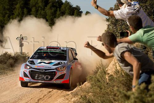 24.10.2014. Catalonia, Spain. WRC Rally of Spain.  Dani Sordo (ESP) / Marc Marti (ESP)- Hyundai I20 WRC