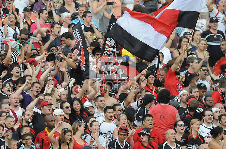 D.C. United fans. D.C. United defeated Montreal Impact 3-0 at RFK Stadium, Saturday June 30, 2012.