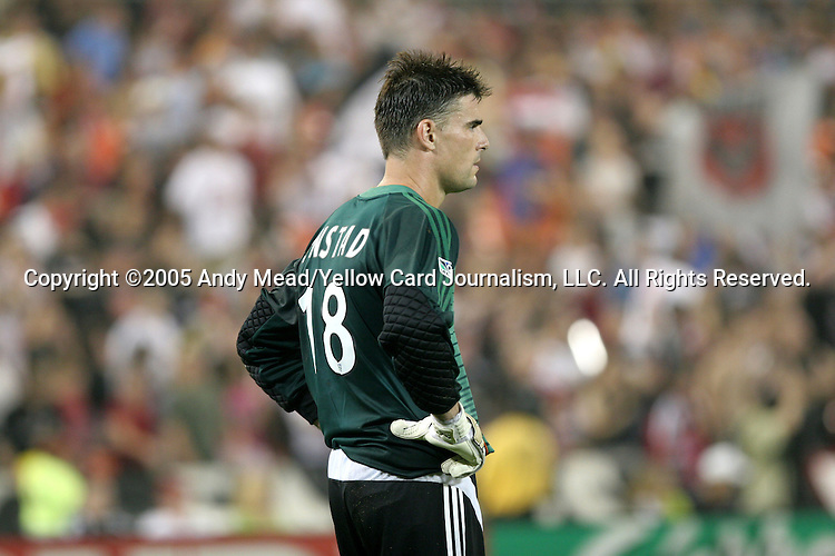 15 July 2005: Pat Onstad. DC United defeated the San Jose Earthquakes 3-0 at RFK Stadium in Washington, DC in a regular season Major League Soccer game.