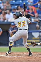 West Virginia Power third baseman Ke'Bryan Hayes (22) awaits a pitch during a game against the Asheville Tourists at McCormick Field on June 23, 2016 in , North Carolina. The Tourists defeated the Power 3-2. (Tony Farlow/Four Seam Images)