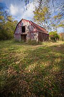 An old barn on Irbie Campground Road on the Buffalo National River in Arkansas..