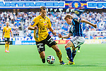 Stockholm 2014-07-07 Fotboll Allsvenskan Djurg&aring;rdens IF - IF Elfsborg :  <br /> Elfsborgs Henning Hauger i kamp om bollen med Djurg&aring;rdens Simon Tibbling <br /> (Foto: Kenta J&ouml;nsson) Nyckelord:  Djurg&aring;rden DIF Tele2 Arena Elfsborg IFE