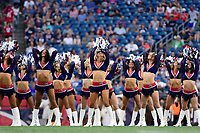 August 9, 2018: New England Patriots cheerleaders perform for spectators at the NFL pre-season football game between the Washington Redskins and the New England Patriots at Gillette Stadium, in Foxborough, Massachusetts.The Patriots defeat the Redskins 26-17. Eric Canha/CSM