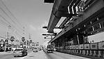 Bangkok - Thailand, February 25, 2012 -- Construction / extension of the mass rapid transit network, public transport by Bangkok Metro MTR or BTS Skytrain; infrastructure, traffic, transport, urban -- Photo © HorstWagner.eu