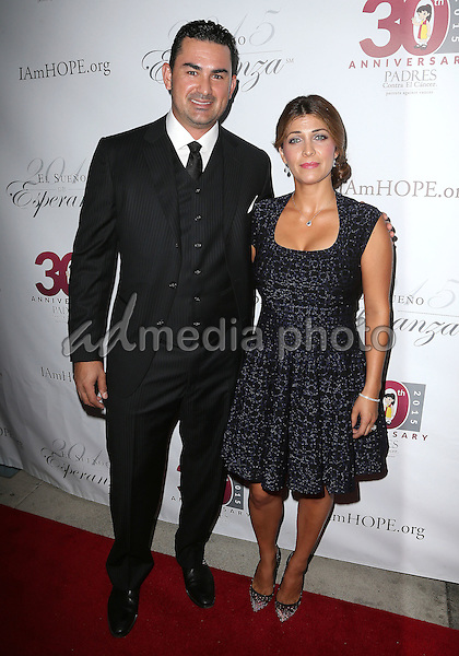 17 September 2015 - Hollywood, California - Adrian Gonzalez, Betsy Gonzalez<br /> <br /> <br /> . Padres Contra El Cancer's 15th Annual &quot;El Sueno De Esperanza&quot; held at Boulevard3. Photo Credit: F. Sadou/AdMedia