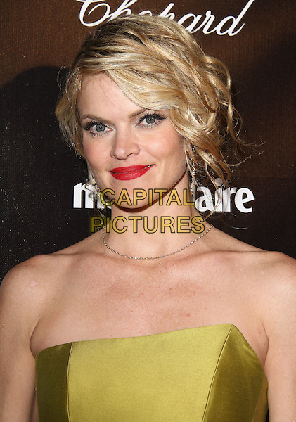 Missi Pyle.The Weinstein Company 2012 Golden Globe Awards After Party held at  Bar 210 at the Beverly Hilton Hotel, Hollywood, California, USA..January 15th, 2012.globes headshot portrait red lipstick green yellow strapless  .CAP/ADM/CH.©Charles Harris/AdMedia/Capital Pictures