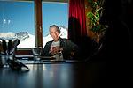 Martin Vetterli, présidentde l'EPFL à Lausanne ensemble à laJungfraujoch. Jungfraujoch juillet 2020