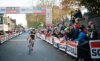 Sven Nys (BEL/Crelan-AAdrinks) winning the Jaarmarktcross for a record 6th time<br /> <br /> Jaarmarktcross Niel 2014