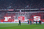 14.04.2019, Merkur Spielarena, Duesseldorf , GER, 1. FBL,  Fortuna Duesseldorf vs. FC Bayern Muenchen,<br />  <br /> DFL regulations prohibit any use of photographs as image sequences and/or quasi-video<br /> <br /> im Bild / picture shows: <br /> Coreo Duesseldorfer <br /> <br /> Foto © nordphoto / Meuter