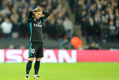 1st November 2017, Wembley Stadium, London, England; UEFA Champions League, Tottenham Hotspur versus Real Madrid; A dejected Luka Modric of Real Madrid