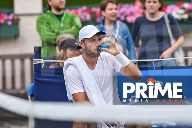 Luke BAMBRIDGE during the Aegon International Eastbourne tennis tournament match between Luke BAMBRIDGE (GBR) v Marek JALOVIEC (CZE) at Devonshire Park, Eastbourne, England on 24 June 2017. Photo by Edward Thomas/PRiME Media Images.