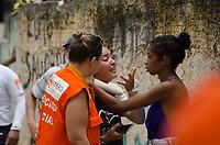 NITERÓI,RJ, 10.11.2018 - DESASTRE-RJ - Bombeiros de quatro quarteis da região estão neste momento no Morro da Boa Esperança, em Piratiningan na Região Oceanica de Niterói, onde pelo menos sete casa foram atingidas por deslizamento de uma pedra, por voltras das 5h manhã deste sábado, 10(Foto: Vanessa Ataliba/Brazil Photo Press)