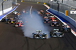 F1 Race Start - Nico Rosberg (GER), Mercedes GP - Lewis Hamilton (GBR), Mercedes GP<br /> for the complete Middle East, Austria & Germany Media usage only!<br />  Foto © nph / Mathis