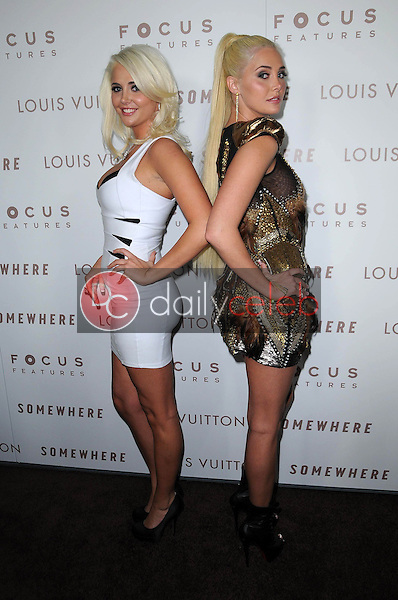 """Karissa Shannon and Kristina Shannon<br /> at the Premiere Of Focus Features' """"Somewhere,"""" Arclight Theater, Hollywod, CA. 12-07-10<br /> David Edwards/DailyCeleb.com 818-249-4998"""