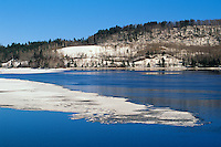Spring ice on Ottawa River<br /> Temiskaming <br /> Quebec<br /> Canada