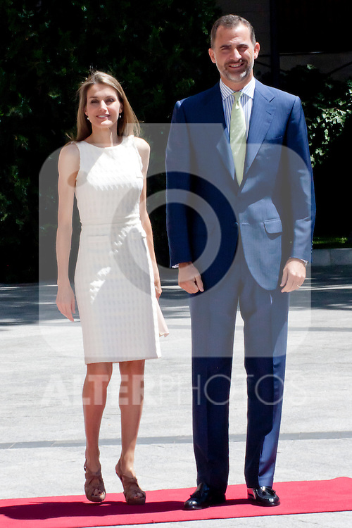 "DELIVERY OF THE IX EDITION OF THE ""LUIS CARANDELL"" PARLIAMENTARY JOURNALISM AT THE HANDS OF THE PRINCES OF ASTURIAS . July 24, 2013. (ALTERPHOTOS/Adrian P. Rincon)<br /> Prince Felipe of Asturias, Princess Litizia of Asturias"