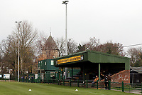 General view of the main stand during Romford vs Basildon United, Bostik League Division 1 North Football at Rookery Hill on 24th November 2018