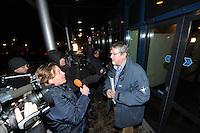 SCHAATSEN: ST. NICOLAASGA: Bijeenkomst Rayonhoofden Vereniging Friesche Elfsteden, 05-02-2012, Piet Hamstra, rayon Dokkum, ©foto: Martin de Jong