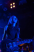 HAIM - guitarist Alanna Haim - performing live on the first night of their UK Tour at the Rock City in Nottingham UK - 04 Mar 2014.  Photo credit: Tony Woolliscroft/IconicPix