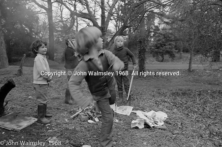 Kids having fun in the grounds, Summerhill school, Leiston, Suffolk, UK. 1968.