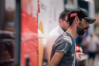 Thomas de Gendt (BEL/Lotto-Soudal) interviewed pre-race<br /> <br /> Stage 15: Millau &gt; Carcassonne (181km)<br /> <br /> 105th Tour de France 2018<br /> &copy;kramon