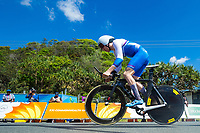 Picture by Alex Whitehead/SWpix.com - 10/04/2018 - Commonwealth Games - Road Cycling - Currumbin Beachfront, Gold Coast, Australia - Men's Individual Time Trial, Scotland's Mark Stewart.