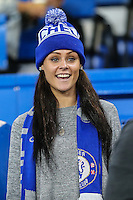 A Chelsea supporter during the UEFA Champions League match between Chelsea and Maccabi Tel Aviv at Stamford Bridge, London, England on 16 September 2015. Photo by David Horn.