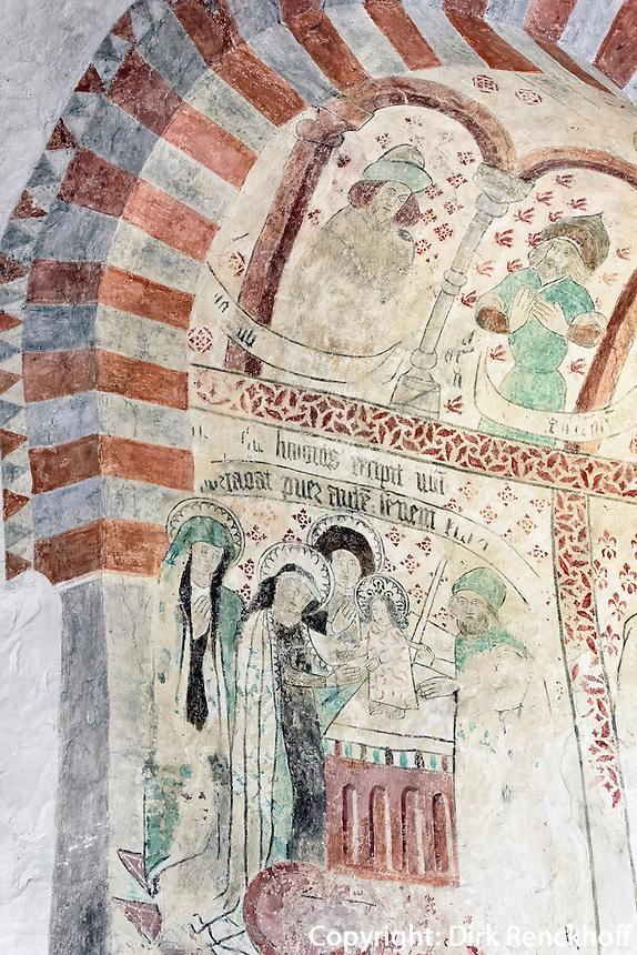 gotische Kirche von &Ouml;ja (13.Jh.)  auf der Insel Gotland, Schweden, Europa<br /> Gothic Church of &Ouml;ja (13.c.), Isle of Gotland, Sweden