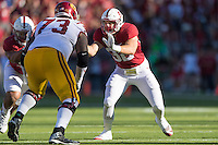 Stanford, CA - September 17, 2016: Joey Alfieri during the Stanford vs USC football game at Stanford Stadium. The Cardinal defeated the Trojans 27-10.