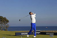 A.P McCoy (AM) on the 12th tee during Round 2 of the 2015 Alfred Dunhill Links Championship at Kingsbarns in Scotland on 2/10/15.<br /> Picture: Thos Caffrey | Golffile