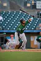 Daytona Tortugas designated hitter Hendrik Clementina (24) bats during a Florida State League game against the Palm Beach Cardinals on April 11, 2019 at Roger Dean Stadium in Jupiter, Florida.  Palm Beach defeated Daytona 6-0.  (Mike Janes/Four Seam Images)