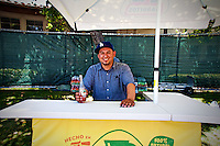 Dominic working the Jarritos stand at the F-10 Block Party featuring The Styleliner on Saturday, April 19th.