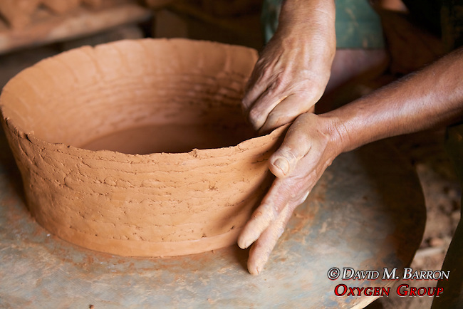 Making Pottery On Wheel