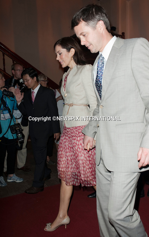 """Queen Margrethe, Crown Prince Fredrik and Crown Princess Mary and Prince Consort Henrik .The Danish Royal Family on their State Visit to Vietnam visited The Imperial City which is located in the centre of the Citadel. The Royal family had lunch in the Royal Theatre_Hue, Vietnam_05/11/2009..Mandatory Photo Credit: ©Dias/Newspix International..**ALL FEES PAYABLE TO: """"NEWSPIX INTERNATIONAL""""**..PHOTO CREDIT MANDATORY!!: NEWSPIX INTERNATIONAL(Failure to credit will incur a surcharge of 100% of reproduction fees)..IMMEDIATE CONFIRMATION OF USAGE REQUIRED:.Newspix International, 31 Chinnery Hill, Bishop's Stortford, ENGLAND CM23 3PS.Tel:+441279 324672  ; Fax: +441279656877.Mobile:  0777568 1153.e-mail: info@newspixinternational.co.uk"""