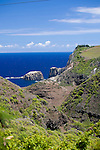views from the single lane road that clings to the cliff along West Maui's rugged North Shore