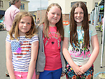 Emily Reynolds, Caitlan McKinney and Stacey Canny pictured at the Aston Village Fun Day. Photo:Colin Bell/pressphotos.ie