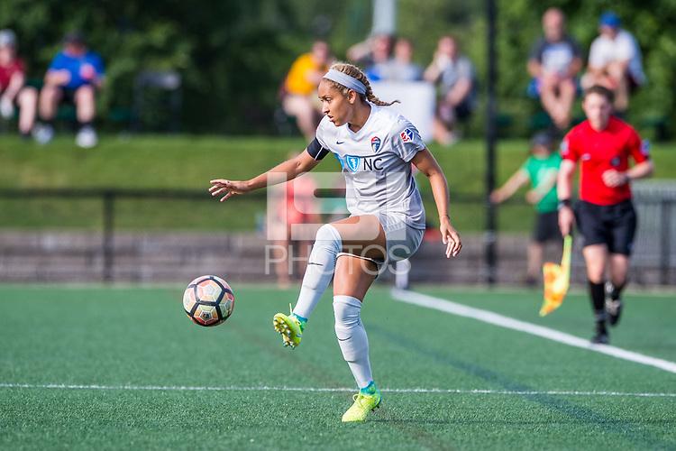 Boston, MA - Saturday June 24, 2017: Jaelene Hinkle during a regular season National Women's Soccer League (NWSL) match between the Boston Breakers and the North Carolina Courage at Jordan Field.