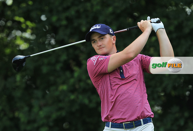 Paul Dunne (IRL) on the 3rd tee during the Round 2 of the 2016 BMW International Open at the Golf Club Gut Laerchenhof in Pulheim, Germany on Friday 24/06/16.<br /> Picture: Golffile | Thos Caffrey
