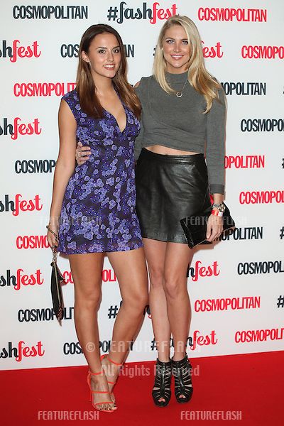 Lucy Watson and Stephanie Pratt arriving for the Cosmopolitan Fashfest, at Battersea Evolution, London. 18/09/2014 Picture by: Alexandra Glen / Featureflash