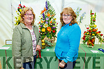 Noreen Dillane (Limerick) and Geraldine Moloney enjoying the flower arrangements  at the Féile na mBláth on Saturday in the Town Park on Saturday afternoon