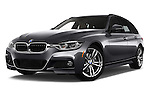 Stock pictures of low aggressive front three quarter view of 2016 BMW 3-Series 328i-xDrive-Sports-Wagon 5 Door Wagon Low Aggressive
