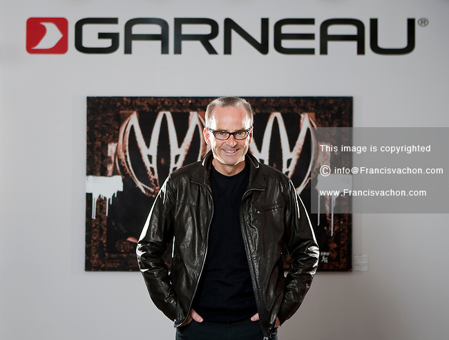 Louis Garneau, CEO of Louis Garneau Sports, poses at the company headquarters in Saint-Augustin-de-Desmaures Thursday March 31, 2011.