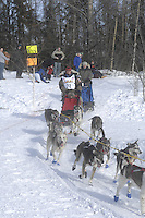 Sue Morgan Anchorage Start Iditarod 2008.