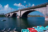 London Bridge, original bridge brought from London and reassembled, Lake Havasu, Arizona