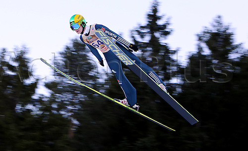 13.12.2013 Titisee-Neustadt Germany. Mens World Cup Ski-Jumping Training and Qualification. Marinus Kraus (GER)